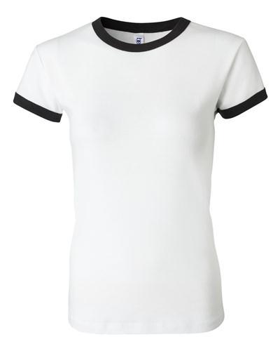 2c5151b2 Bella+Canvas Baby Rib Short Sleeve Ringer Tee | t-shirts | Custom ...